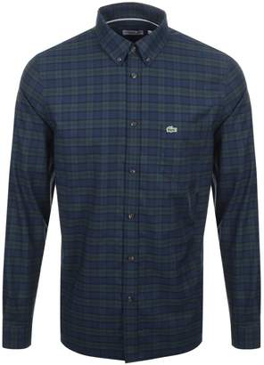 Lacoste Long Sleeved Check Shirt Green