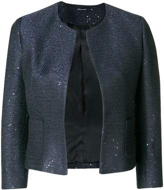 Tagliatore single buttoned jacket with sequin details