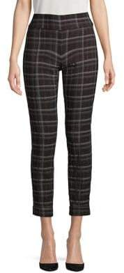 Lord & Taylor Plaid Cropped Pants