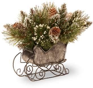 Peak & Pine Loon Peak Pine Sleigh with 6 Tipped Cones