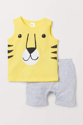 H&M Tank Top and Shorts - Yellow