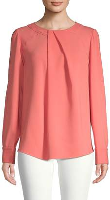 Oscar de la Renta Women's Long-Sleeve Stretch-Silk Blouse
