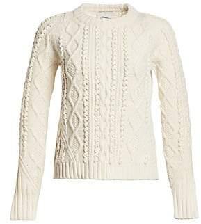 3.1 Phillip Lim Women's Popcorn Knit Wool Sweater