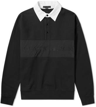 Alexander Wang Long Sleeve Vintage Fleece Polo