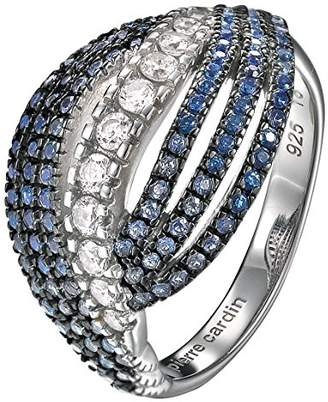 Pierre Cardin Women'S Ring 925 Sterling Silver Rhodium Plated Glass Zirconia Onde Blue Size P / Q (18.1 MM) S.PCRG90418E180