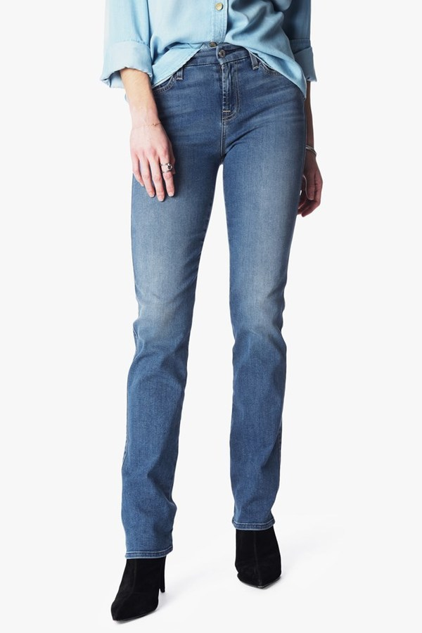 7 For All MankindB(Air) Denim Kimmie Straight In Sunset
