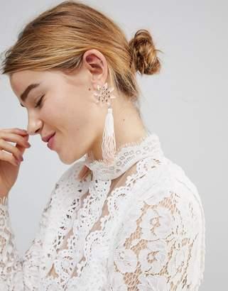 Asos Pretty Flower and Ombre Tassel Earrings