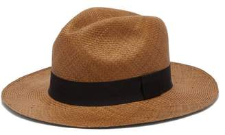 Guanabana - Wide Brimmed Straw Panama Hat - Mens - Brown