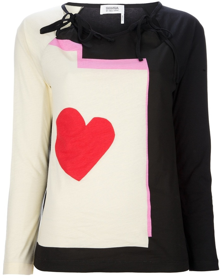 Sonia Rykiel Sonia By long sleeve heart top