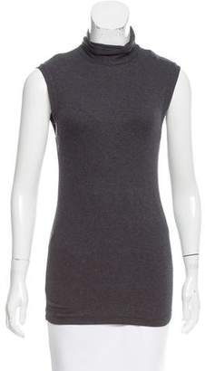 Brunello Cucinelli Monili-Accented Sleeveless Turtleneck