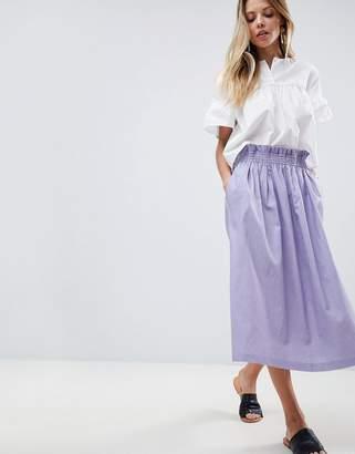 Asos Design Tailored Linen Prom Skirt