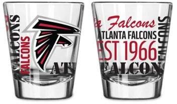Boelter NFL Atlanta Falcons 2-Pack Shot Glass Set