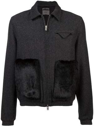 Siki Im tweed faux-fur pockets jacket