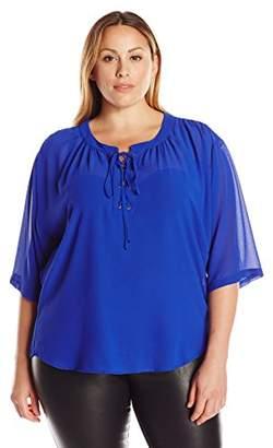 Single Dress Women's Plus-Size Valencia Lace-Up Top $46.42 thestylecure.com