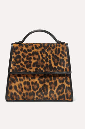 Hunting Season Small Leather-trimmed Leopard-print Suede Tote - Leopard print