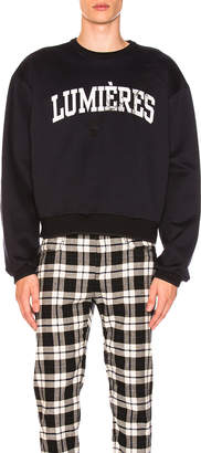 Oamc Lumieres Sweatshirt in Navy