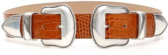 B-Low the Belt B Low The Belt Rouge Croco Belt With Double Buckle