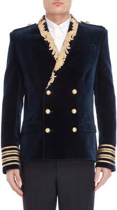 Balmain Velvet Military Blazer