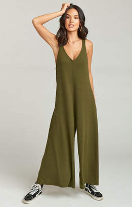 Show Me Your Mumu Bowery Jumpsuit ~ Olive Brushed Hacci
