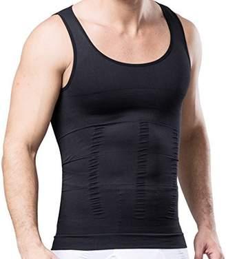 b22b9bc72ce ABS by Allen Schwartz HANERDUN Mens Slimming Body Shaper Vests Undershirt Abdomen  Slim