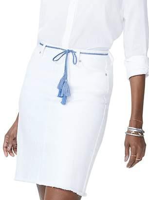 NYDJ Tassel-Tie Denim Skirt