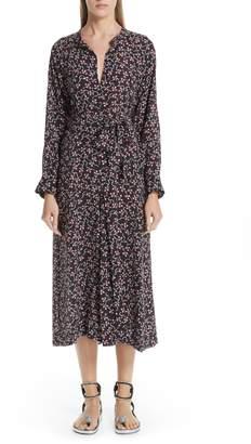 Isabel Marant Lympia Floral Print Silk Dress