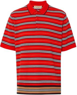 Burberry contrast stripe polo shirt