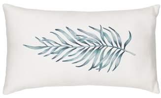Palm Leaf Lumbar Accent Pillow
