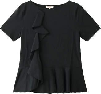 Demy Lee デミリー フリル半袖Tシャツ