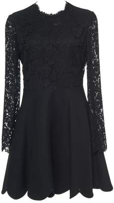 Valentino Black Lace Mini Flare Dress