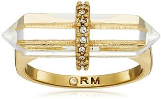 Rebecca Minkoff Raw Gold Crystal Ring