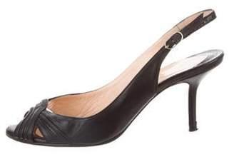 Christian Louboutin Leather Slingback Sandals