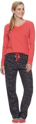 Sonoma Goods For Life Women's SONOMA Goods for Life Pajamas: Top, Pants & Socks 3-Piece PJ Set