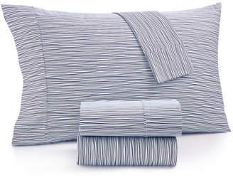 Aq Textiles Closeout! Modernist Printed Wavy Stripe 4-Pc. Queen Sheet Set, 750-Thread Count Cotton Blend