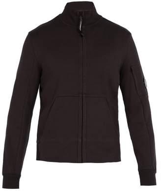 C.P. Company High Neck Zip Through Cotton Sweatshirt - Mens - Black