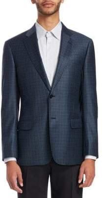 Emporio Armani G-Line Mini-Check Wool Sportcoat