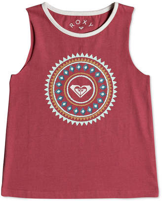 Roxy Graphic-Print Cotton Tank Top, Little Girls
