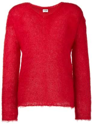 Saint Laurent knitted V neck jumper