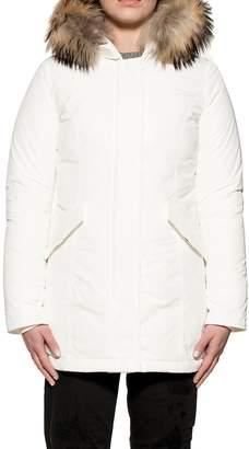 Woolrich White Luxury Artic Parka Hooded Down Jacket