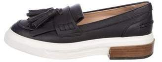 Tod's Leather Kiltie Loafers
