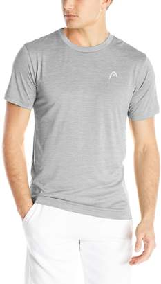 Head Men's Space Dye Hypertek Performance T-Shirt, Grey Heather