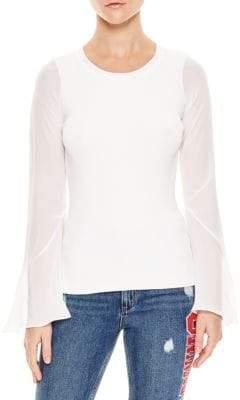 Sandro Ruddy Silk Sleeve Sweater