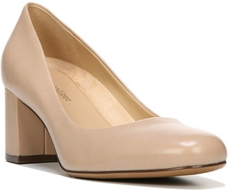 Naturalizer Block-Heel Leather Pumps - Whitney