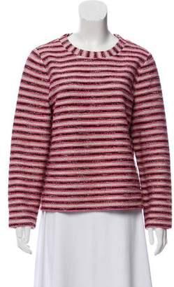 Tory Burch Scoop Neck Textured Sweater