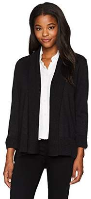 Kasper Women's 3/4 Sleeve Shawl Collar Open Cardigan