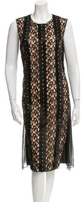 Prabal Gurung Lace-Accented Midi Dress w/ Tags
