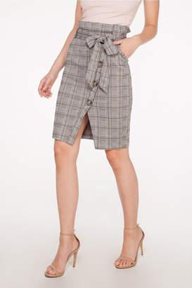 Mystic Plaid Tie Skirt