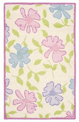 Safavieh Kids Floral Sandy Hand-Tufted Area Rug, Ivory/Pink