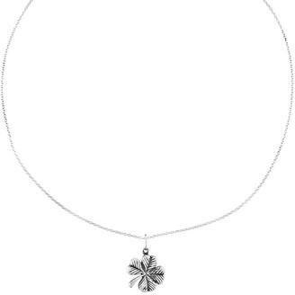 "Sterling Oxidized Four-leaf Clover Pendant w/ 18"" Necklace"