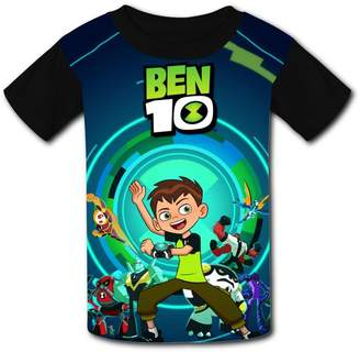 Ben 10 DicoYage Custom Ben-10 Cartoon Boys Girls Teenager Tee Shirt Children Youth T-shirts